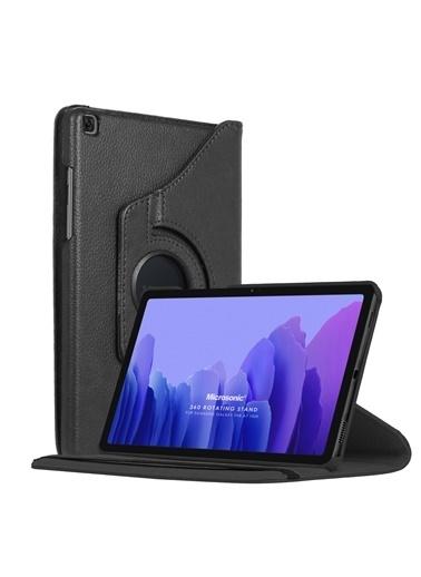 Microsonic Samsung Galaxy Tab A7 T500 Kılıf 360 Rotating Stand Deri Siyah
